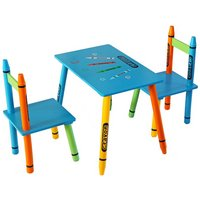 Bebe Style Crayon Table and Chair Set - Blue.