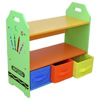 Bebe Style Crayon Shelves and Storage - Green.