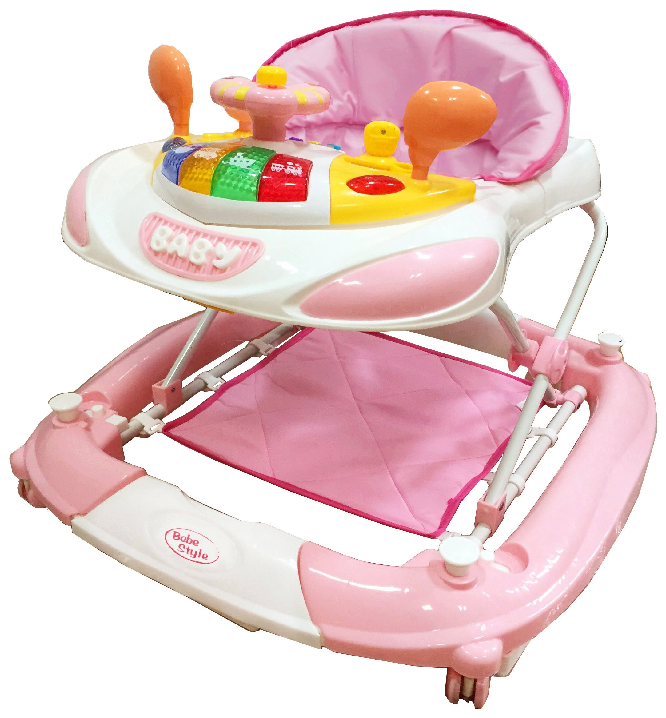 Image of Bebe Style F1 Racing Car Walker n Rocker - Pink.