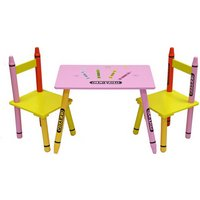 Bebe Style Crayon Table and Chair Set - Pink.