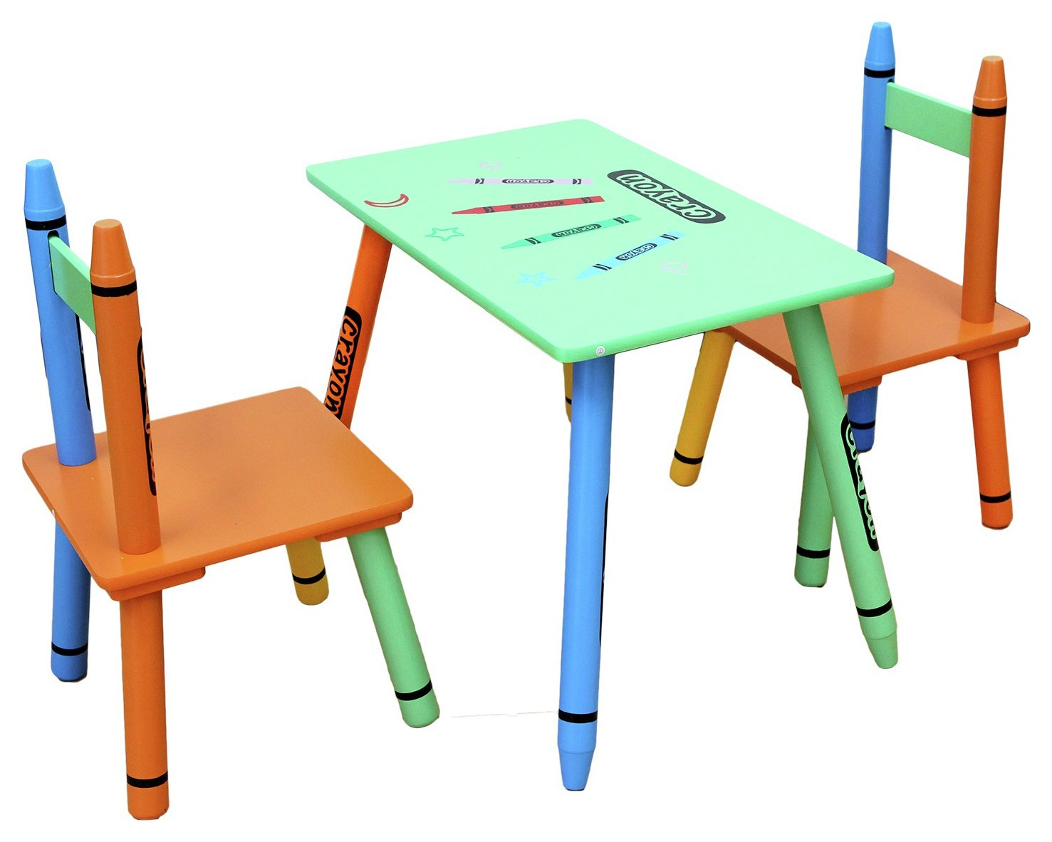 Image of Kiddi Style Crayon Table And Chair - Green