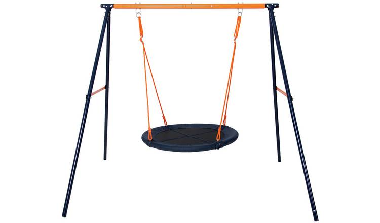 Hedstrom Large Fabric Kids Garden Nest Swing - Blue & Orange