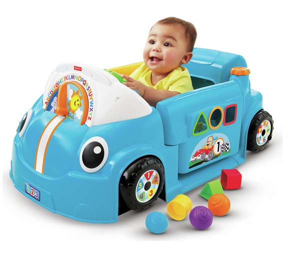 Buy Fisher Price Laugh Learn Crawl A Round Car Blue Activity
