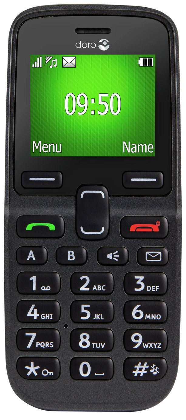 Image of Sim Free Doro 5030 Candy Bar Mobile Phone - Black
