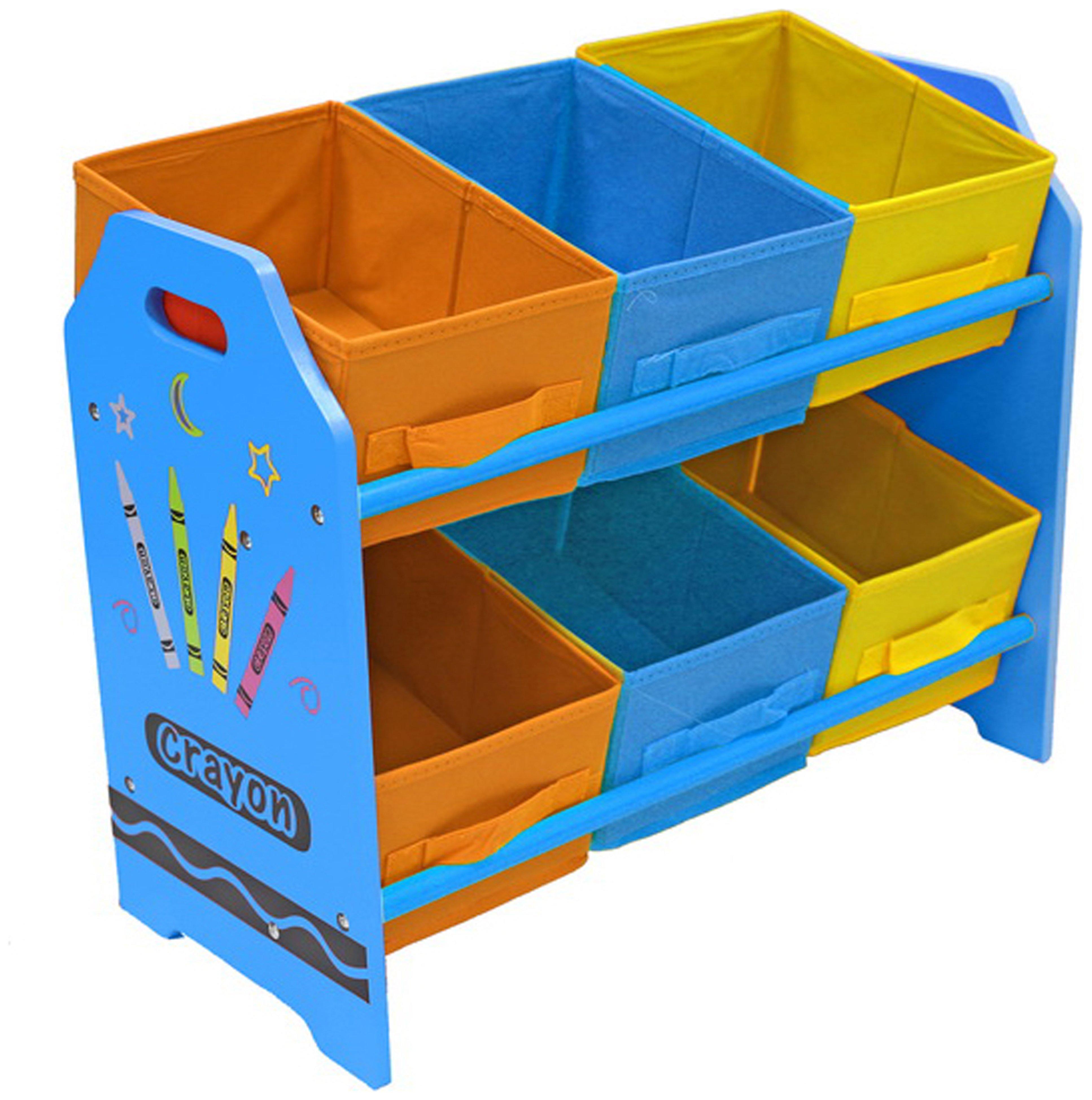 Image of Bebe Style Crayon Bin Storage - Blue.