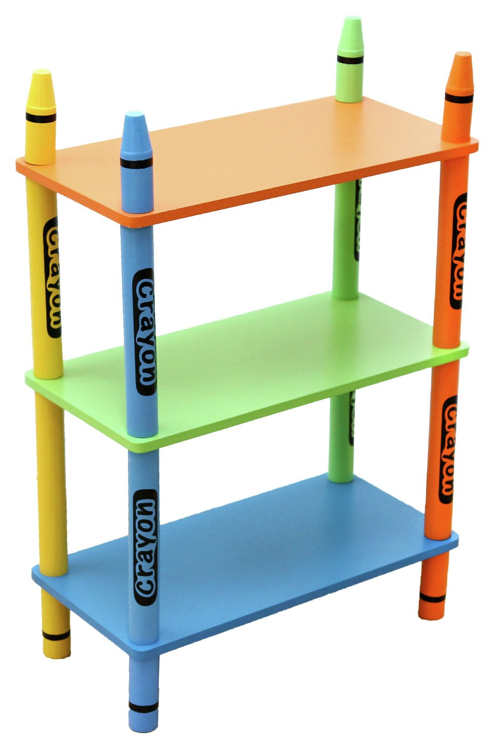 Image of Kiddi Style Crayon 3 Tier Shelves - Green