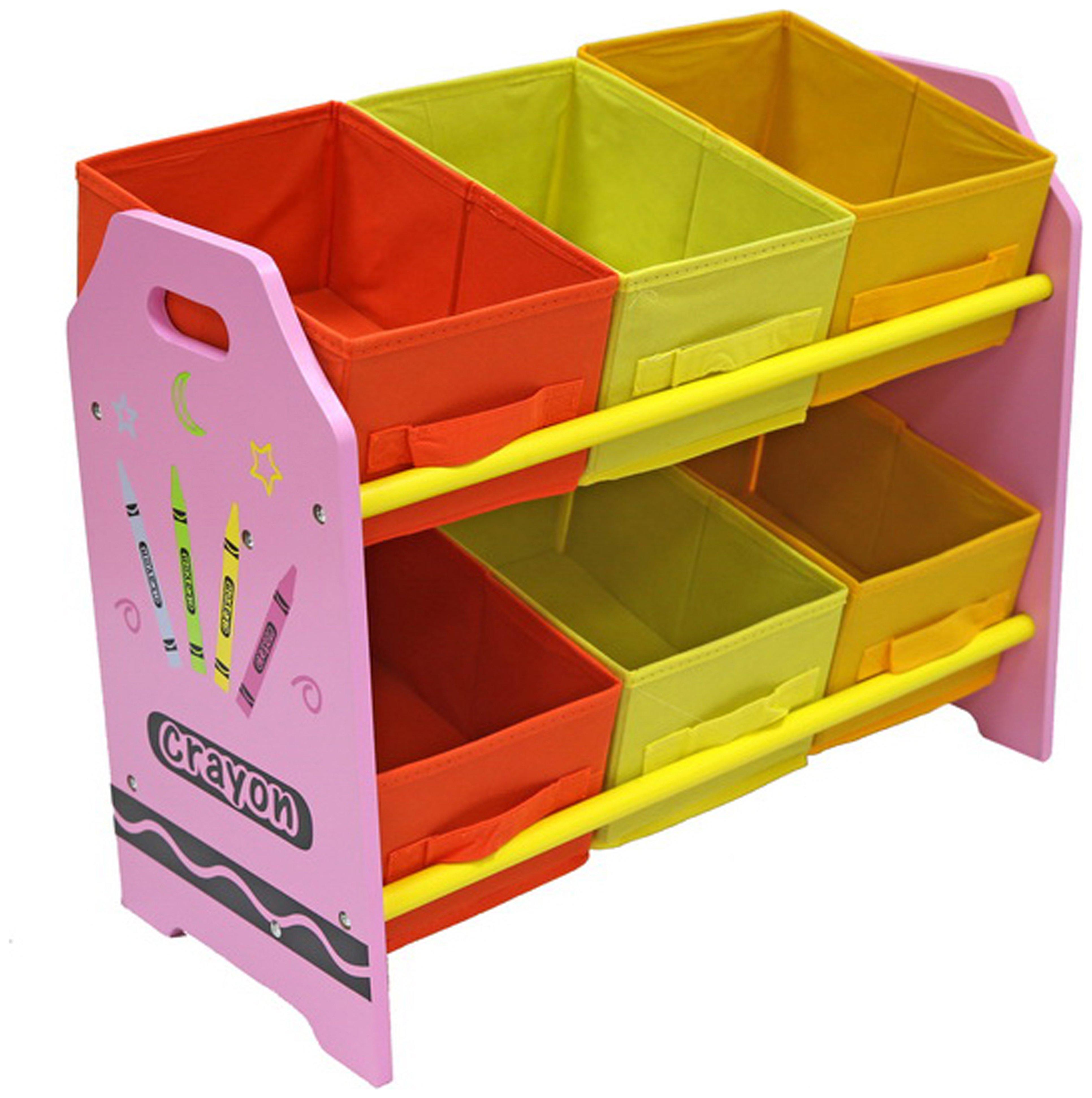 Image of Kiddi Style Crayon 6 Bin Storage - Pink