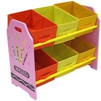 Bebe Style Crayon 6 Bin Storage - Pink.