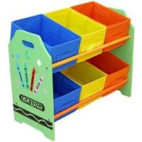 Bebe Style Crayon 6 Bin Storage - Green.