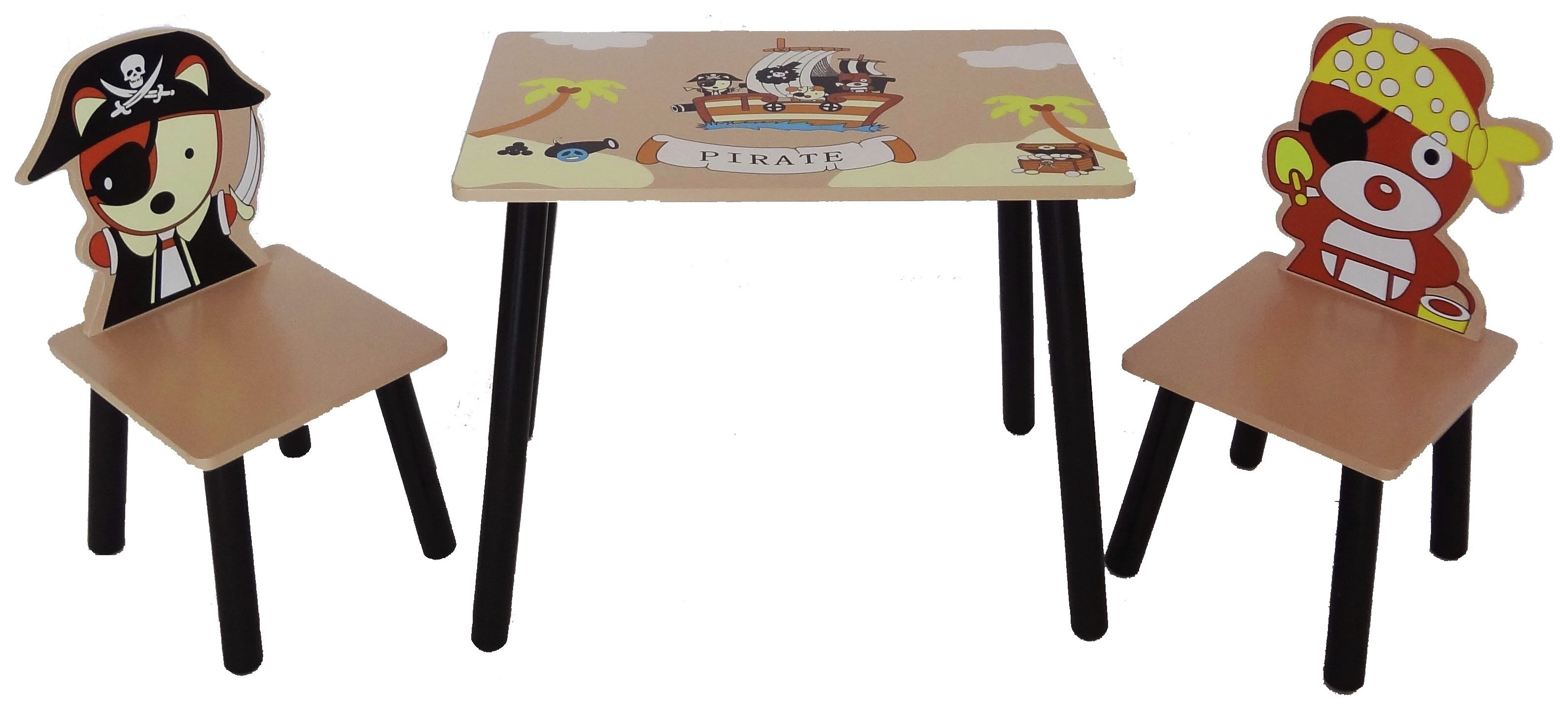 Image of Kiddi Style Pirate Theme Table and 2 Chairs
