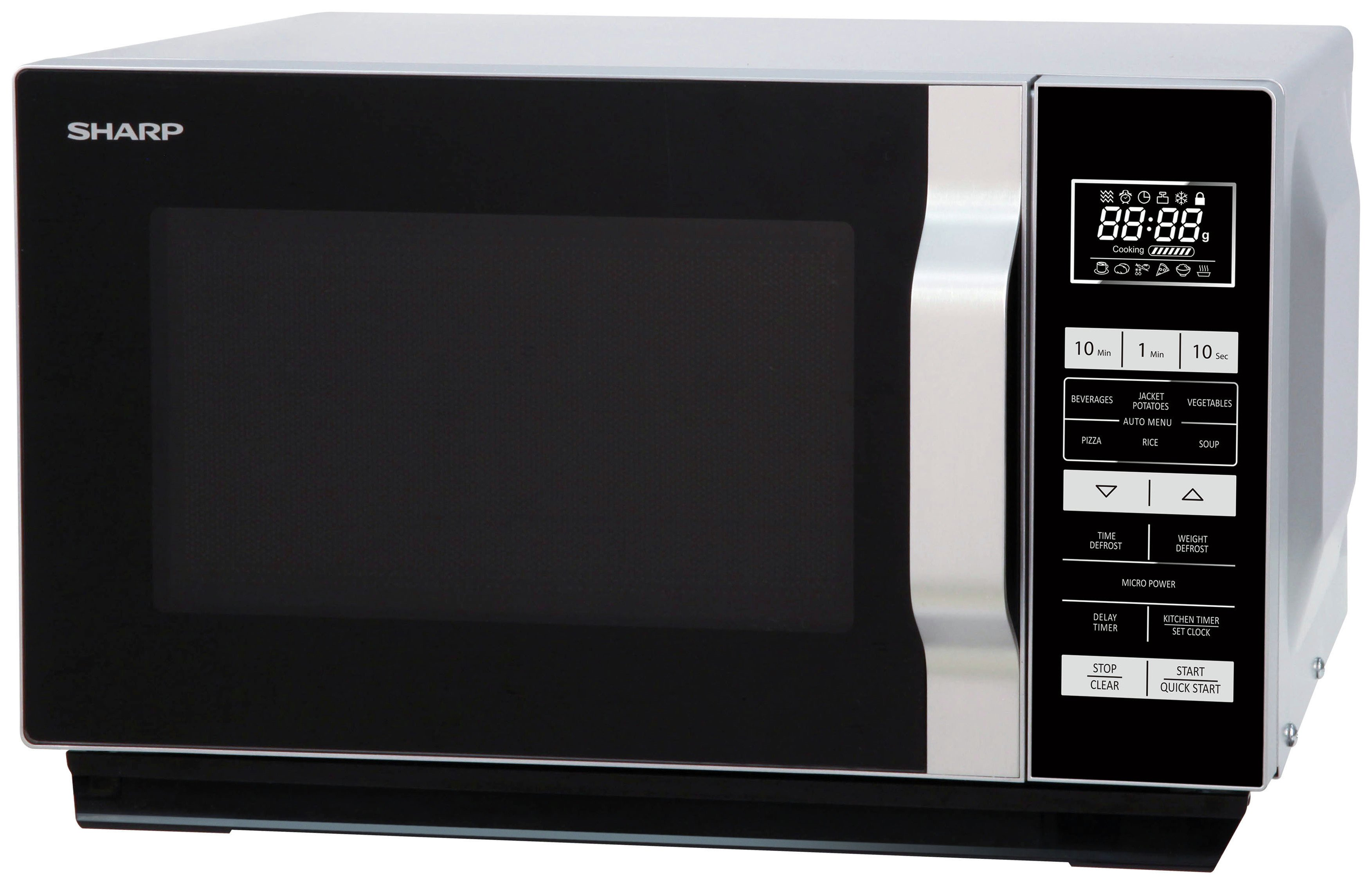 Sharp - Touch Microwave - R360SLM Standard -Silver