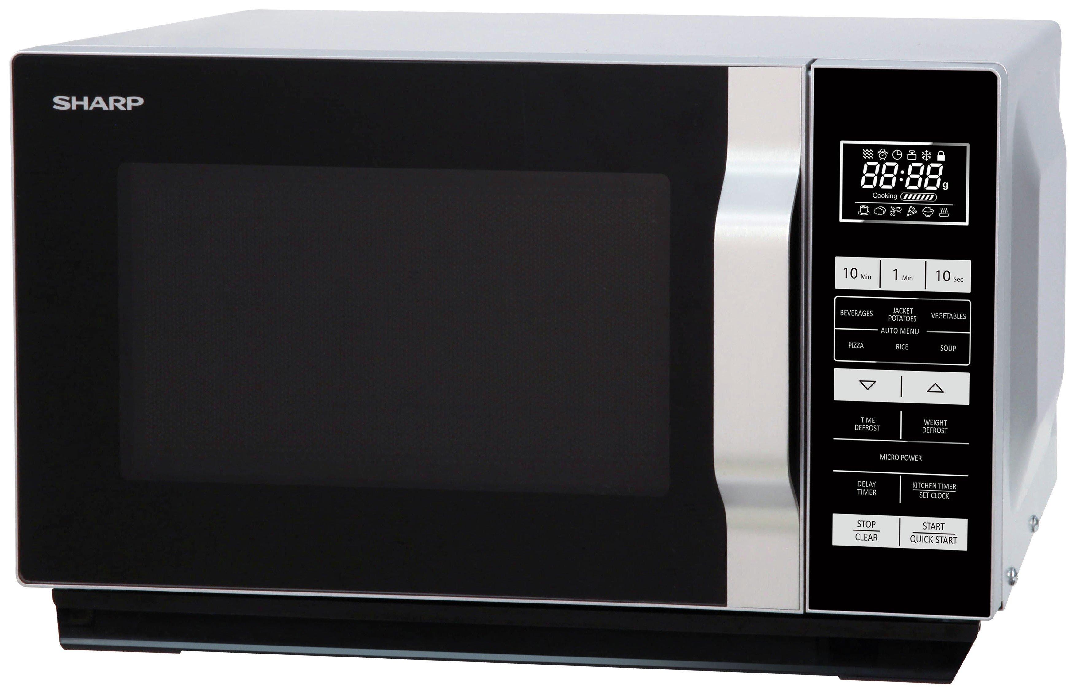 sharp 900w combination flatbed microwave r861. sharp 800w standard flatbed microwave r360slm - silver 900w combination r861