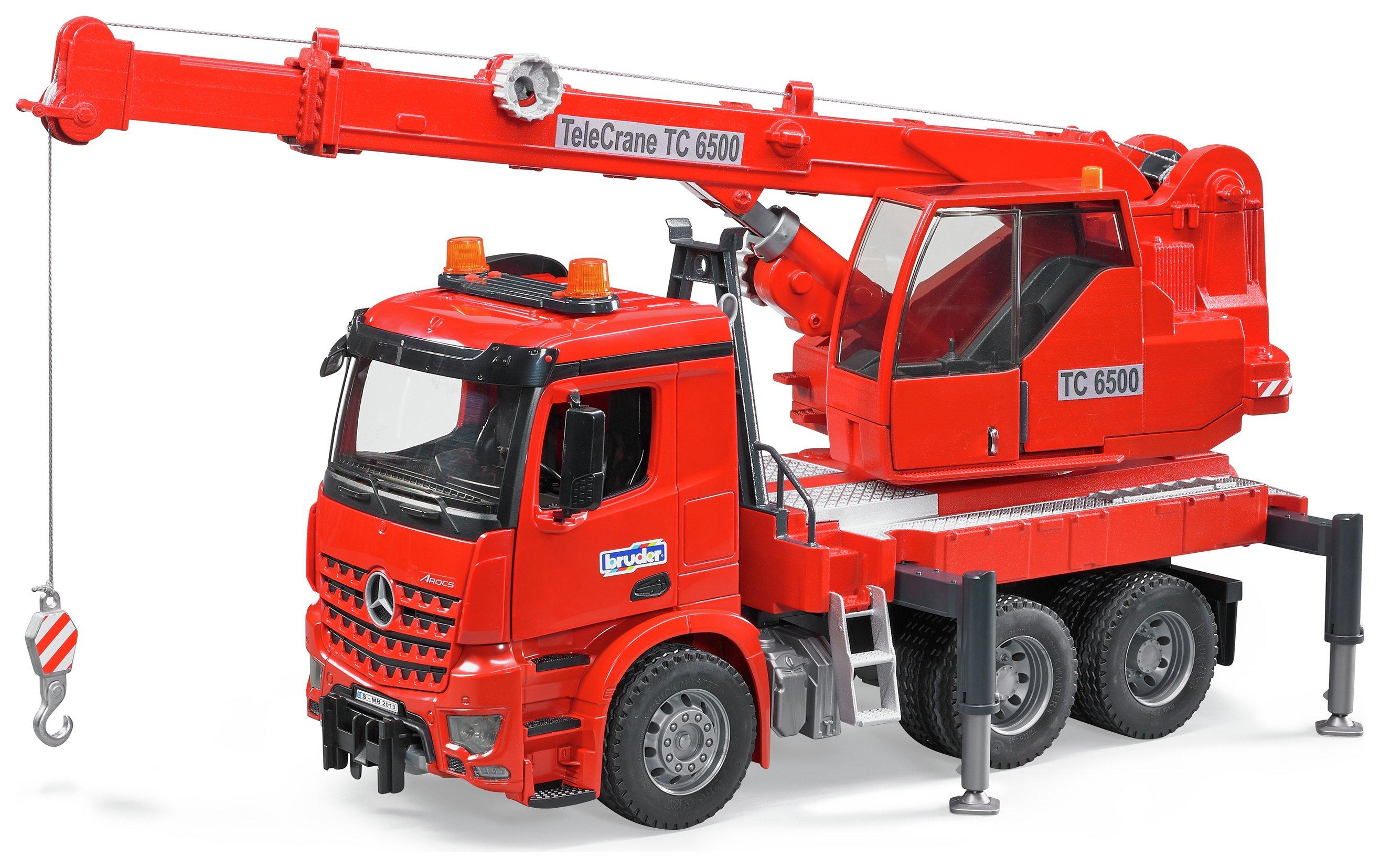 Image of Bruder 03670 MB Arocs Crane Truck.