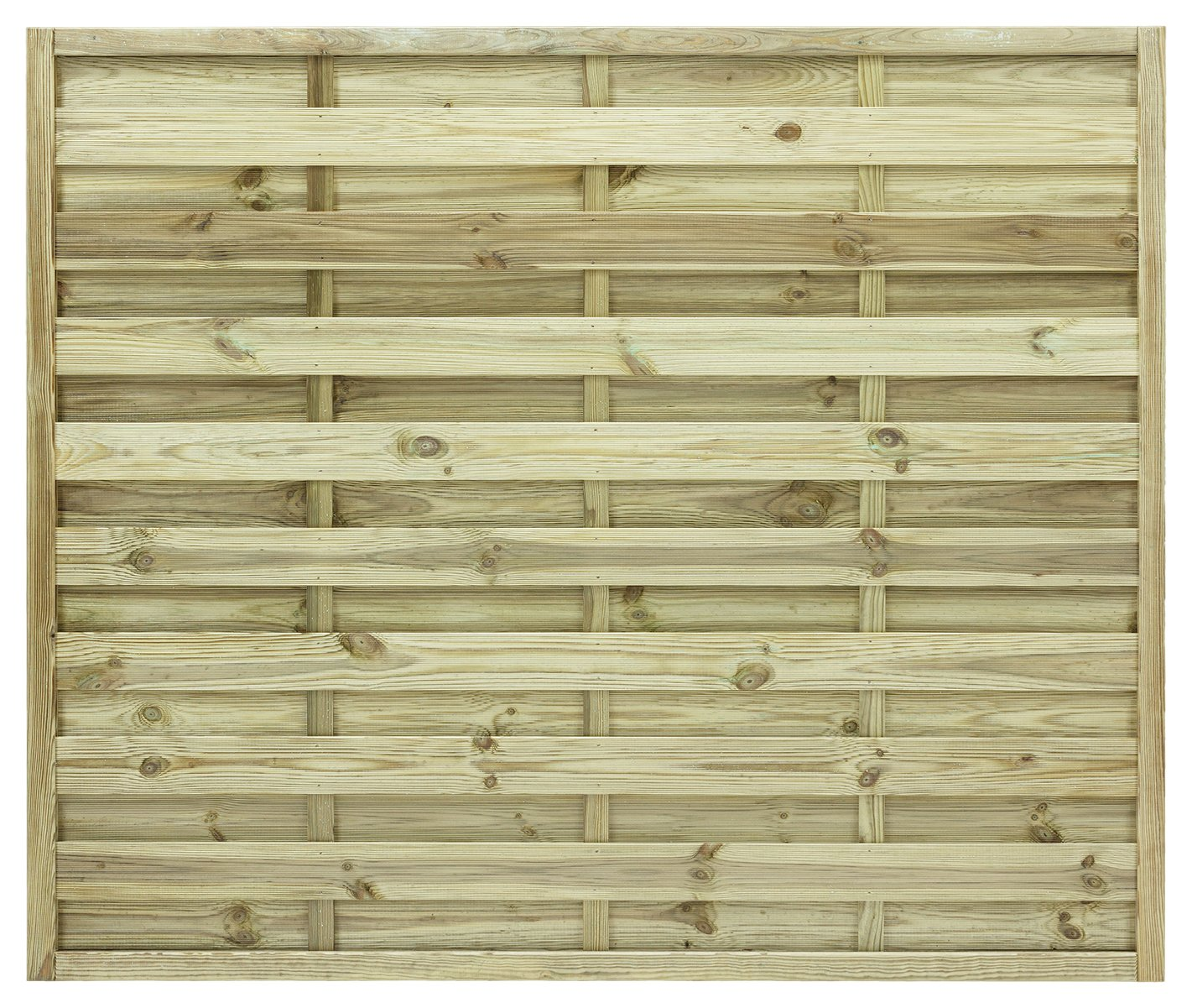 Image of Grange 1.5m St Espirit Square Fence Panel - Pack of 3.