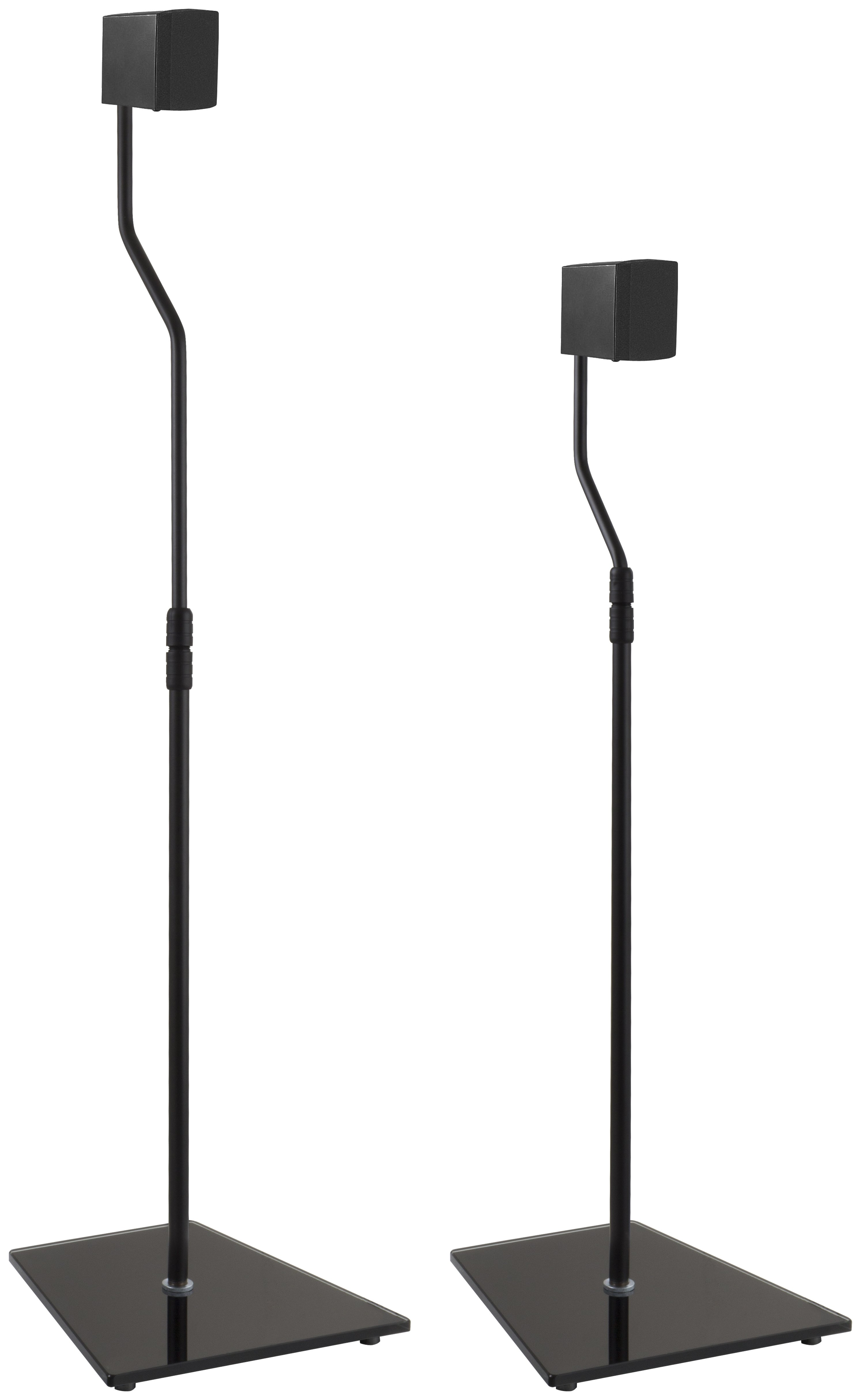 Image of AVF Surround Sound Speaker Stand - Black Glass.