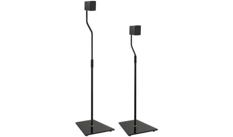 AVF Surround Sound Speaker Stand - Black Glass
