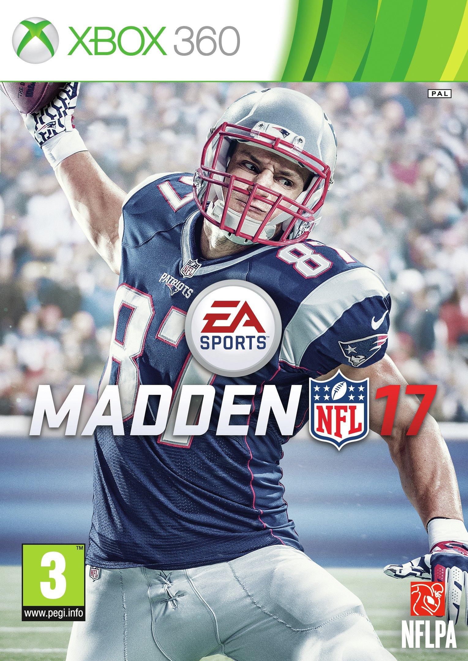 Madden NFL 17 Xbox 360 Game.