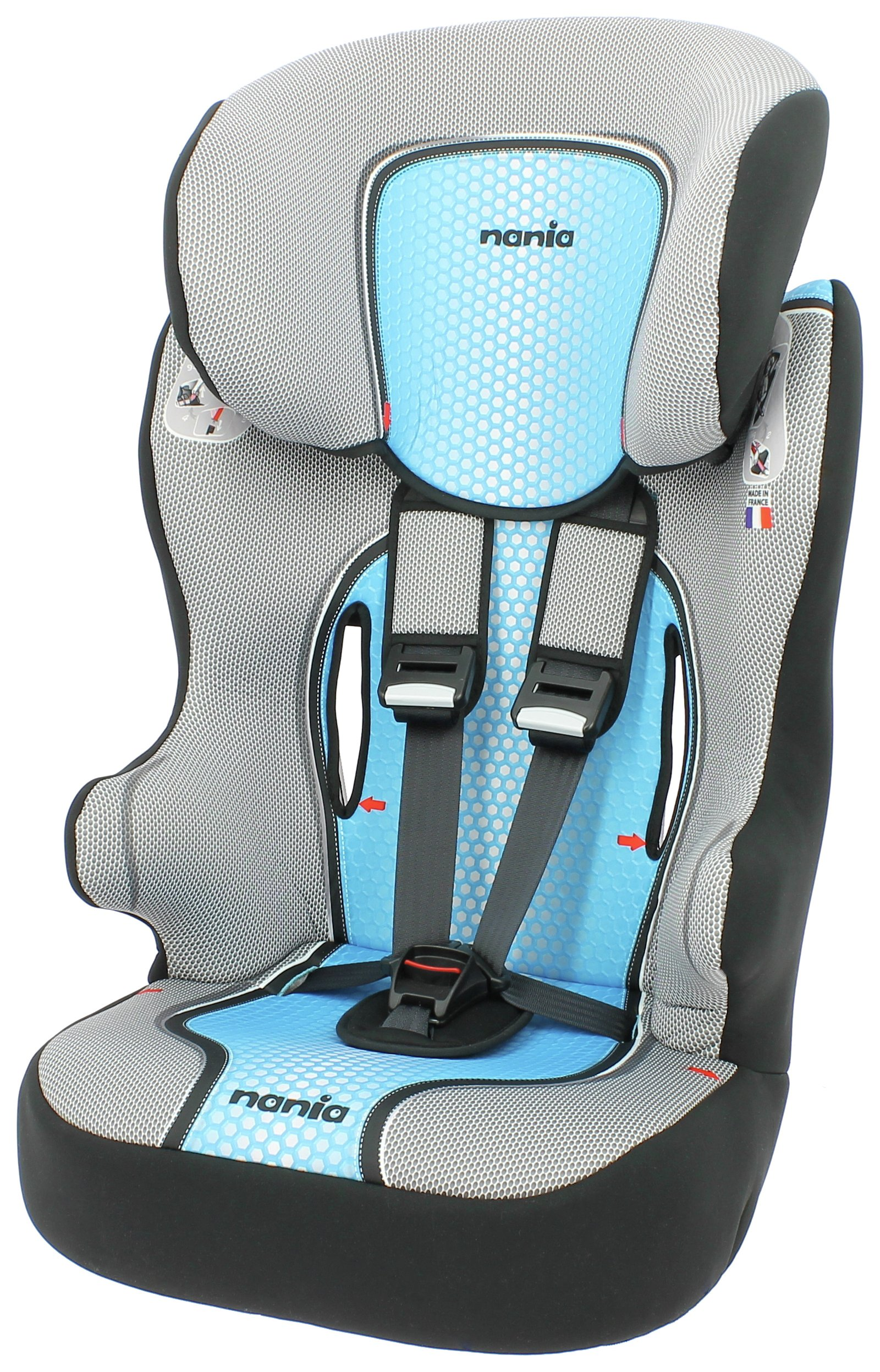 Racer First POP Group 1/2/3 High Back Booster Seat - Blue