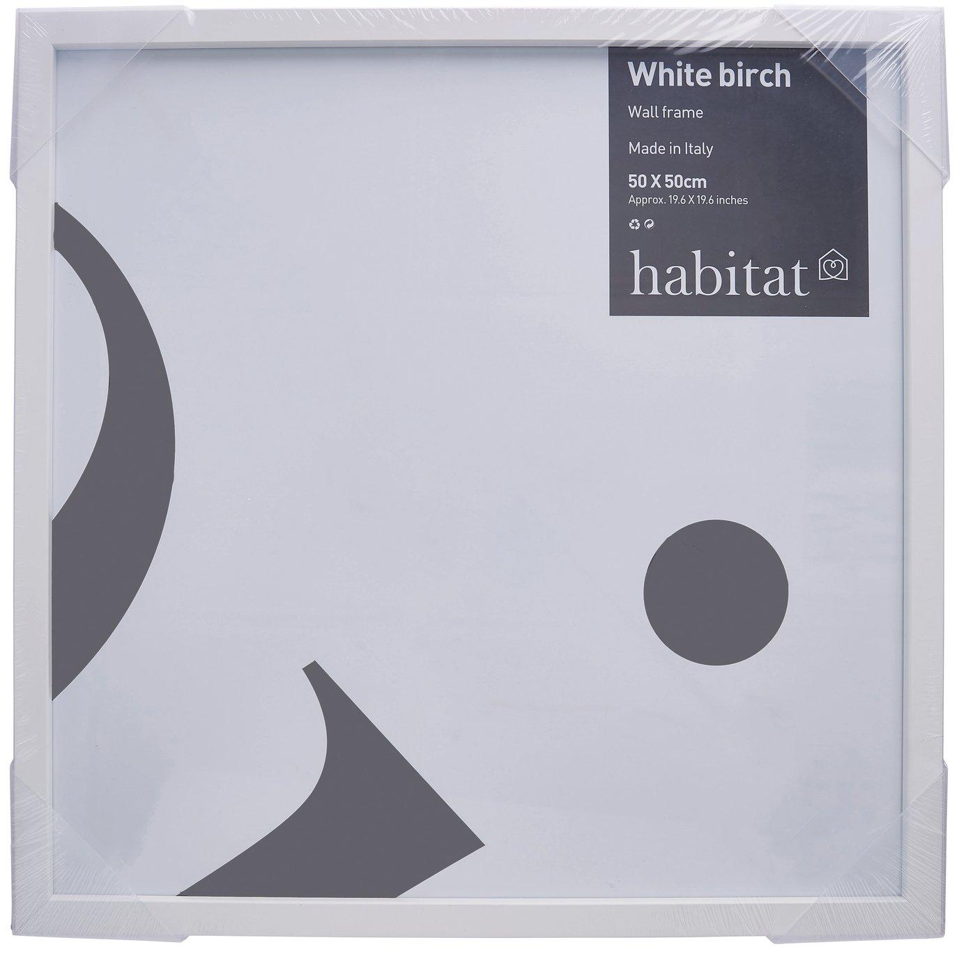 Image of Habitat 50x50cm Wall Frame - White Birch.