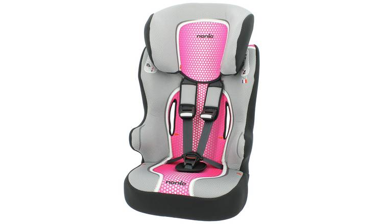 Racer First Pop Group 1/2/3 High Back Booster Seat- Pink
