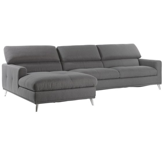 Grey Fabric Left Hand Corner Sofa: Buy Hygena Azores Fabric Left Hand Corner Sofa
