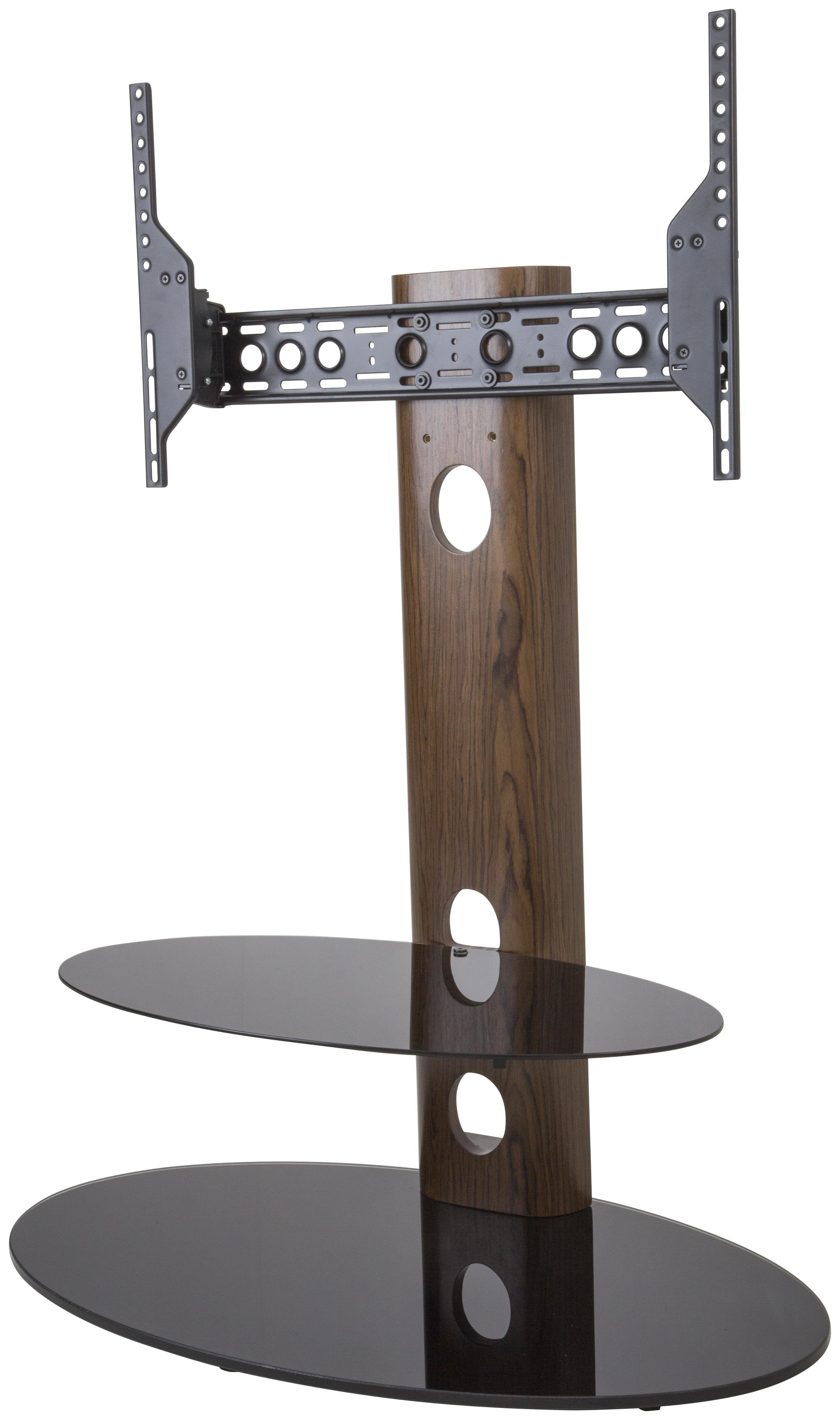 AVF Up to 60 Inch TV Stand - Black Glass and Wood