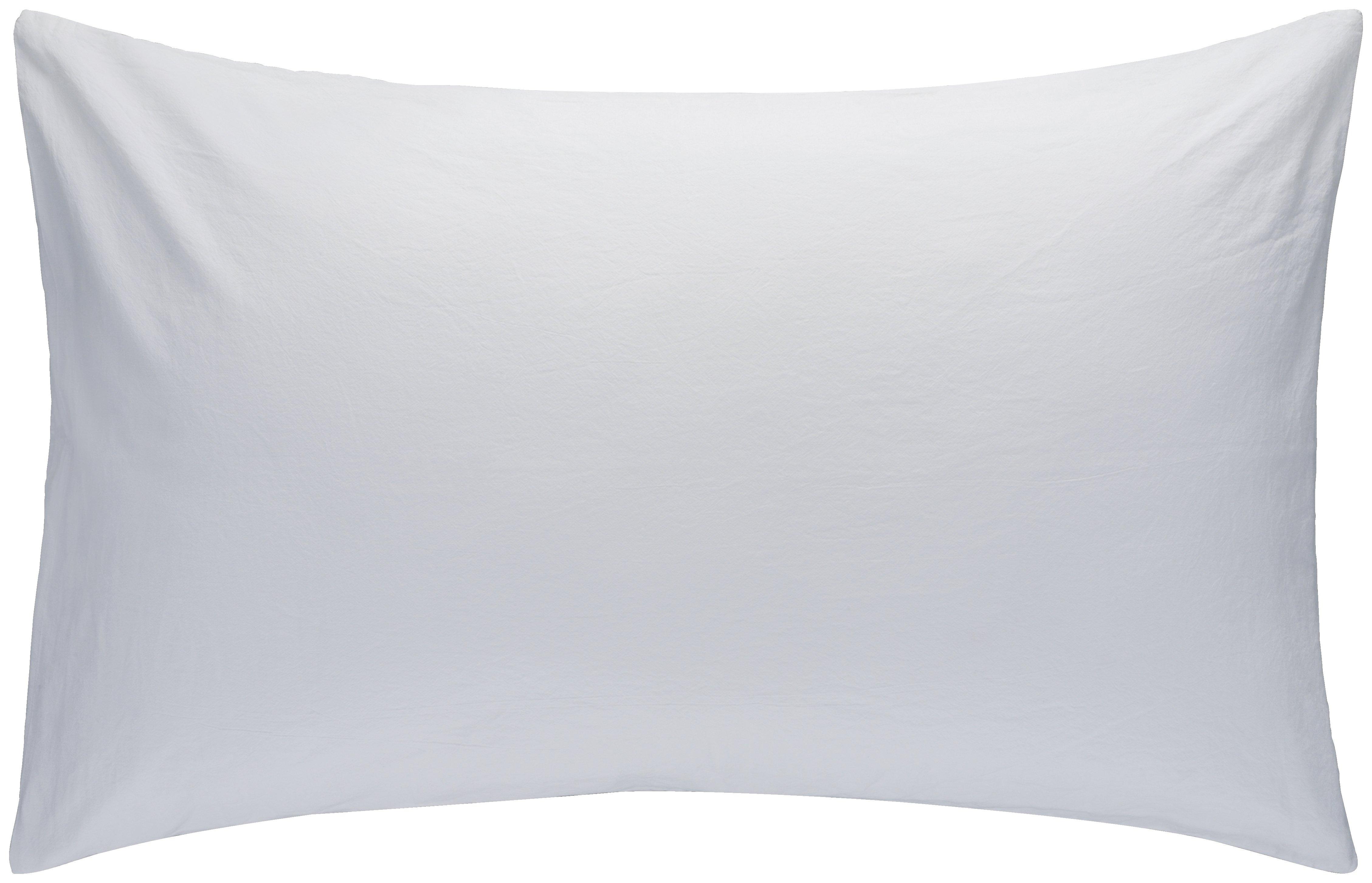 habitat  washed pillowcase 50x80cm  white