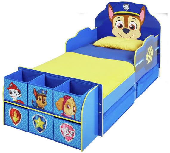 Click to zoom. Buy Paw Patrol Cube Toddler Bed Frame   Blue at Argos co uk   Your
