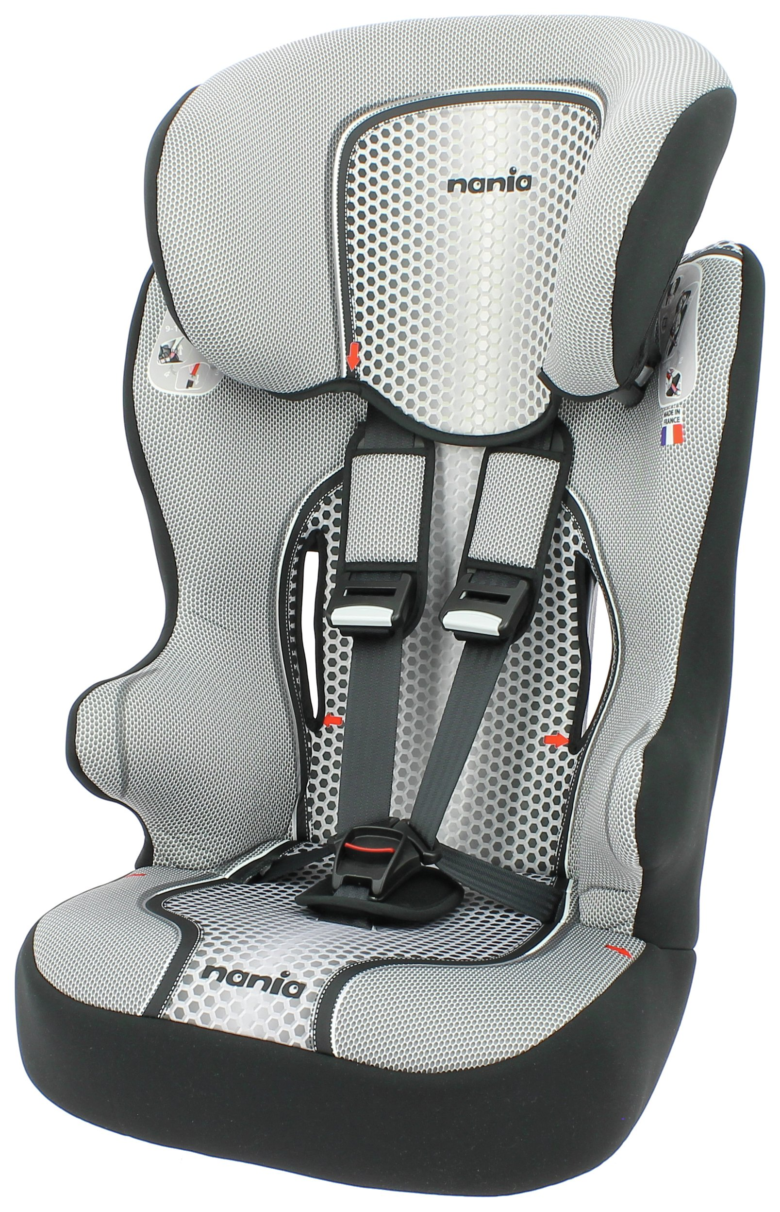 Racer First Pop Group 1/2/3 Highback Booster Seat - Black