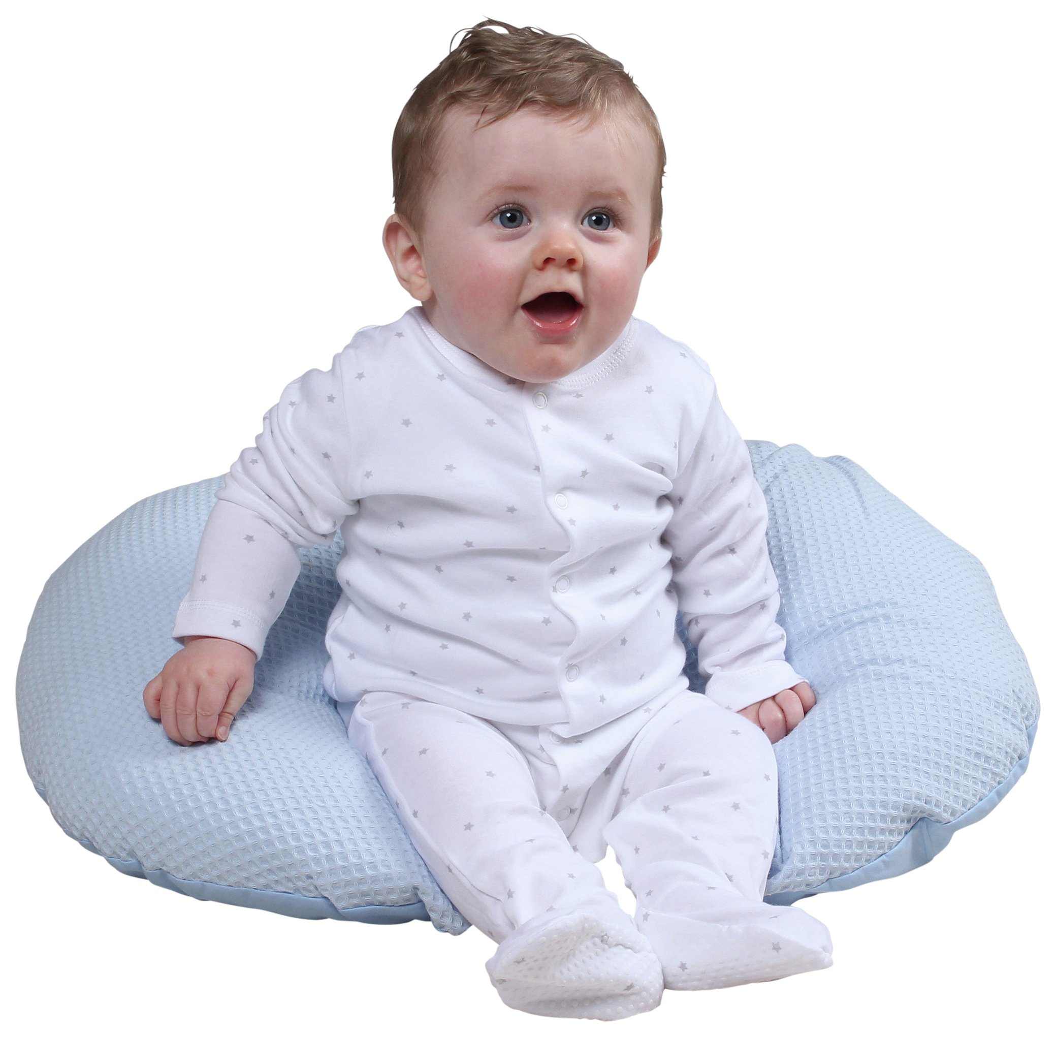 Image of Claire De Lune - Waffle Nursing Pillow - Blue
