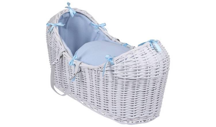 nouveau produit 743be 4f780 Buy Clair de Lune Waffle Blue Noah Pod - White | Moses baskets, stands and  mattresses | Argos