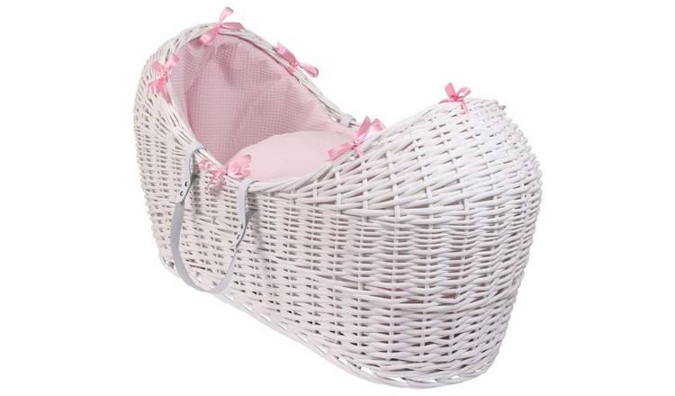 vente chaude en ligne ecfb2 4ce70 Buy Clair de Lune Waffle Pink Noah Pod - White | Moses baskets, stands and  mattresses | Argos