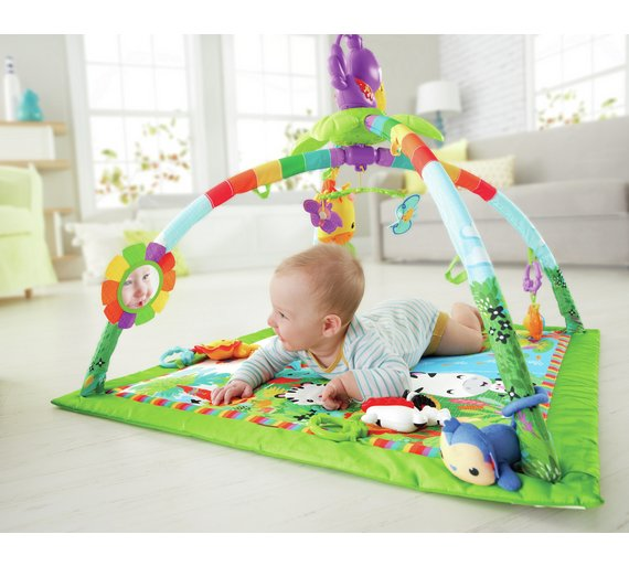 buy fisher price rainforest music lights deluxe gym. Black Bedroom Furniture Sets. Home Design Ideas