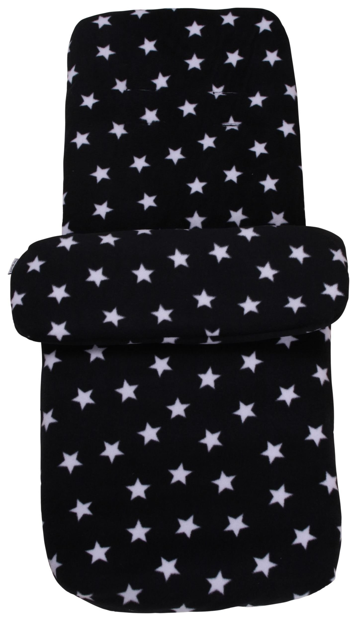 Image of Clair de Lune Fleece Pushchair Footmuff - Black.