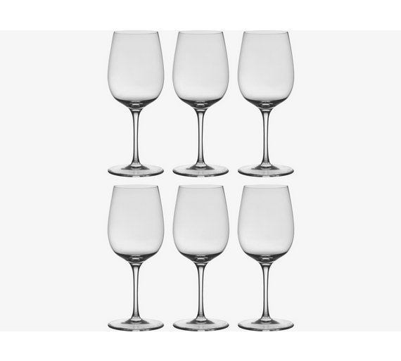 buy habitat vienna set of 6 red wine glasses at. Black Bedroom Furniture Sets. Home Design Ideas