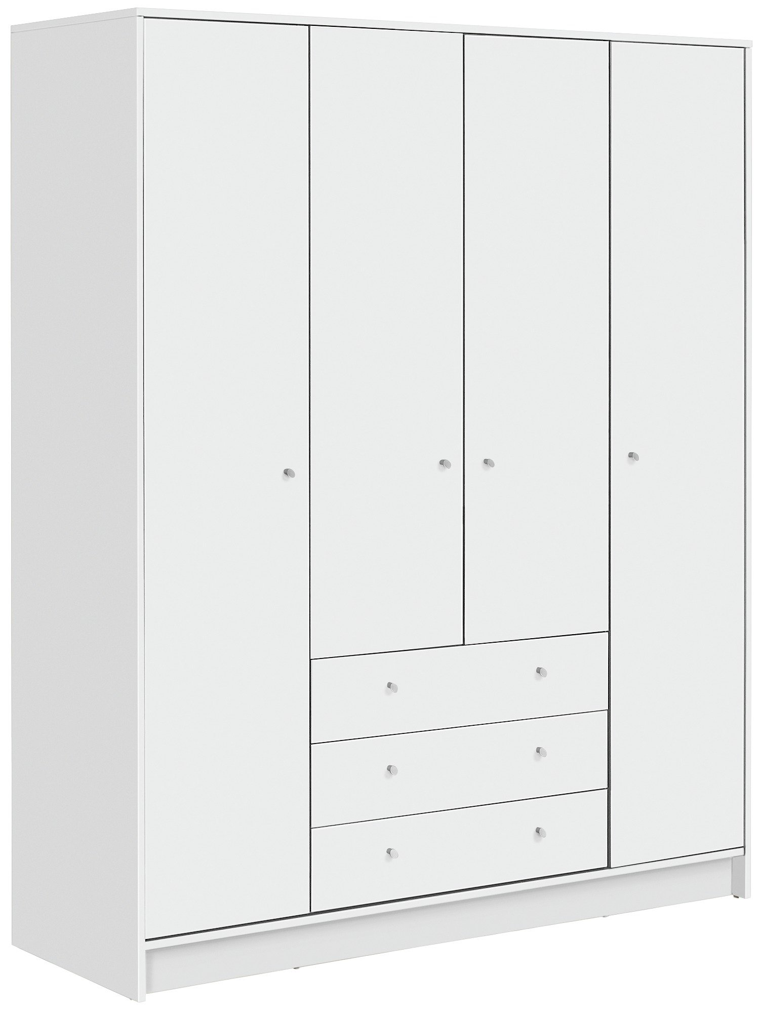 Argos Home New Malibu 4 Door 3 Drawer Wardrobe