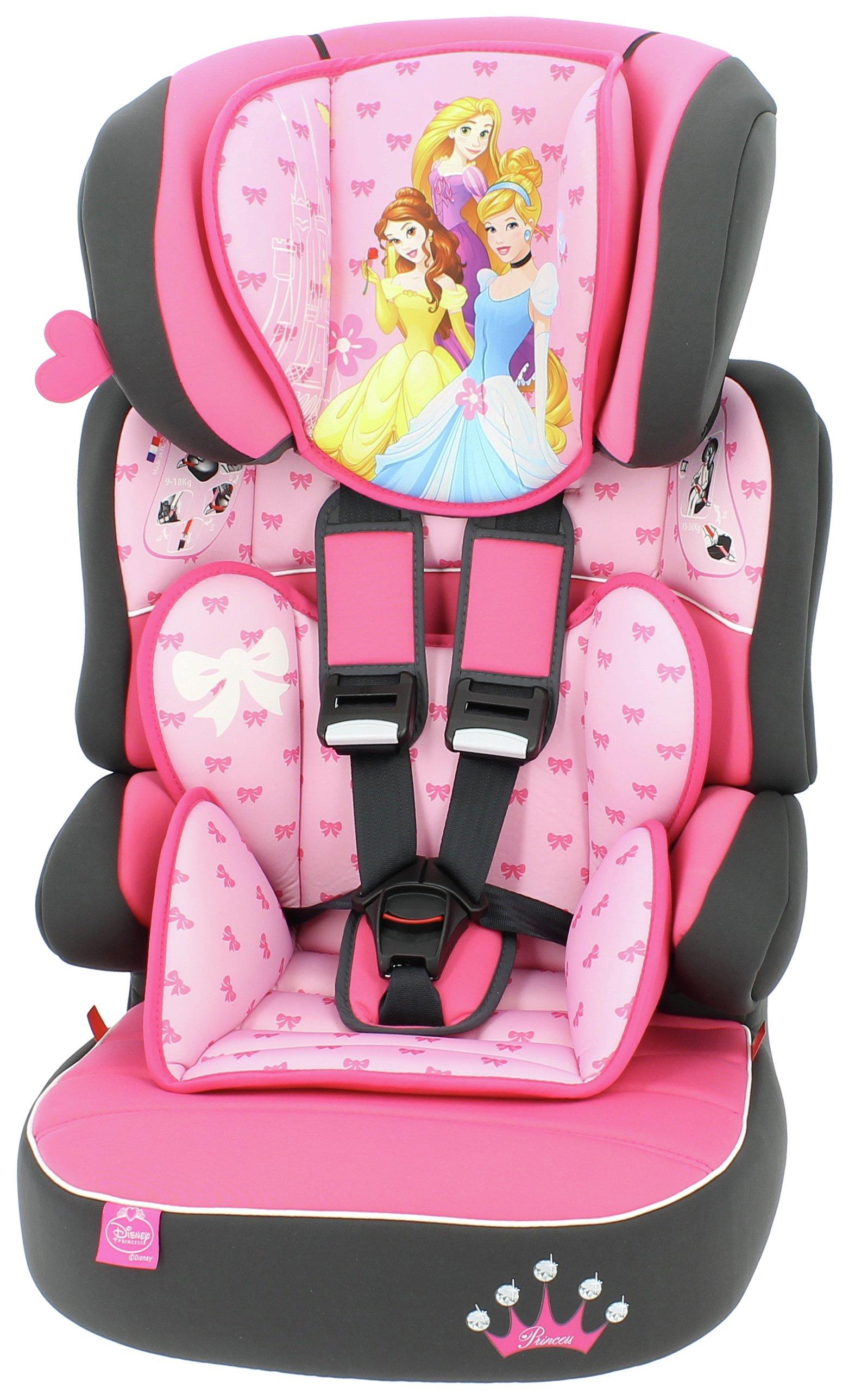 Disney Princess Beline Group 1/2/3 High Back Booster Seat