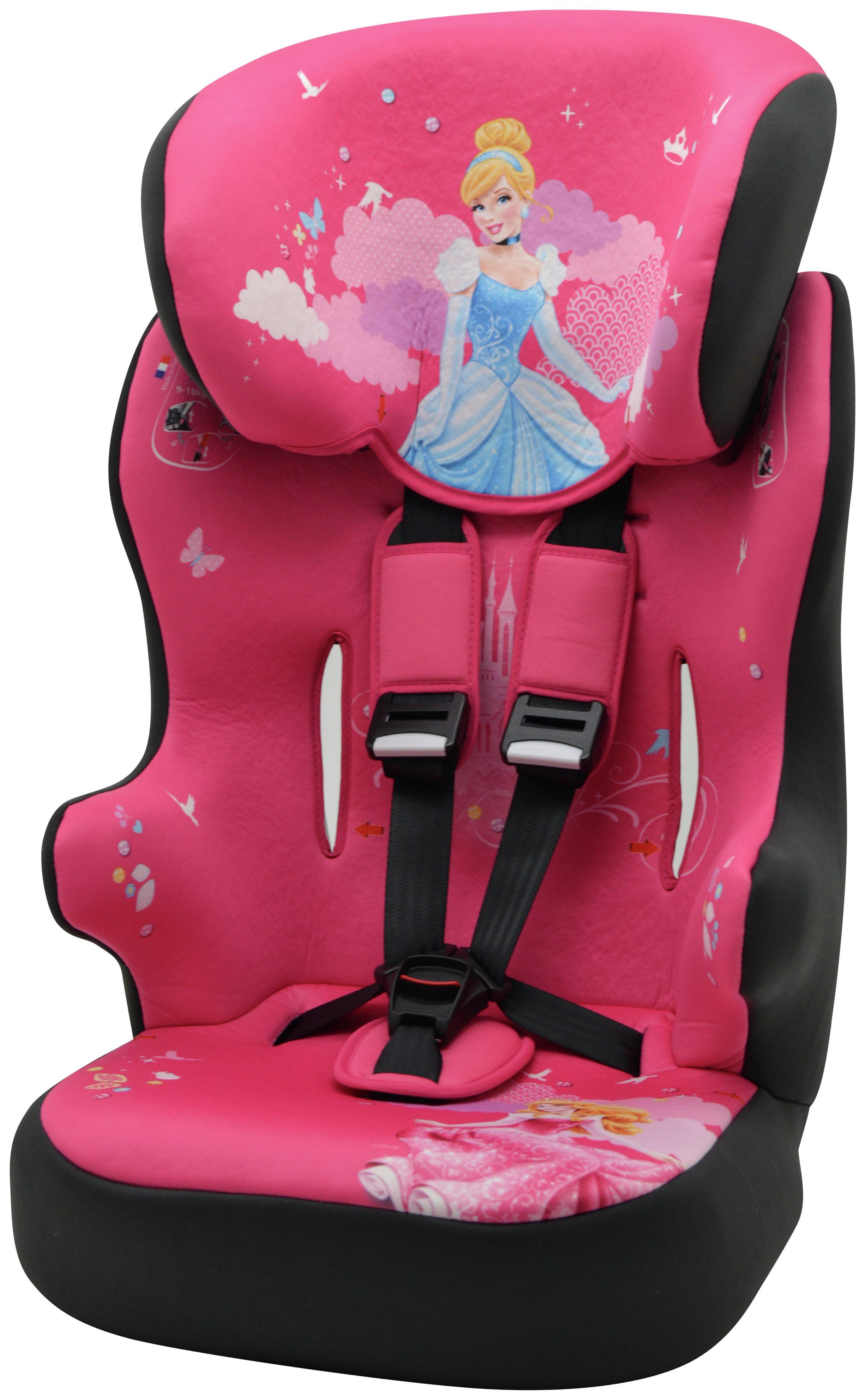 Disney Princess Group 1/2/3 Racer High Back Car Seat - Pink