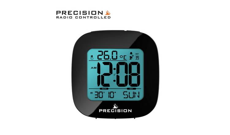 Precision Radio Controlled LCD Alarm Clock