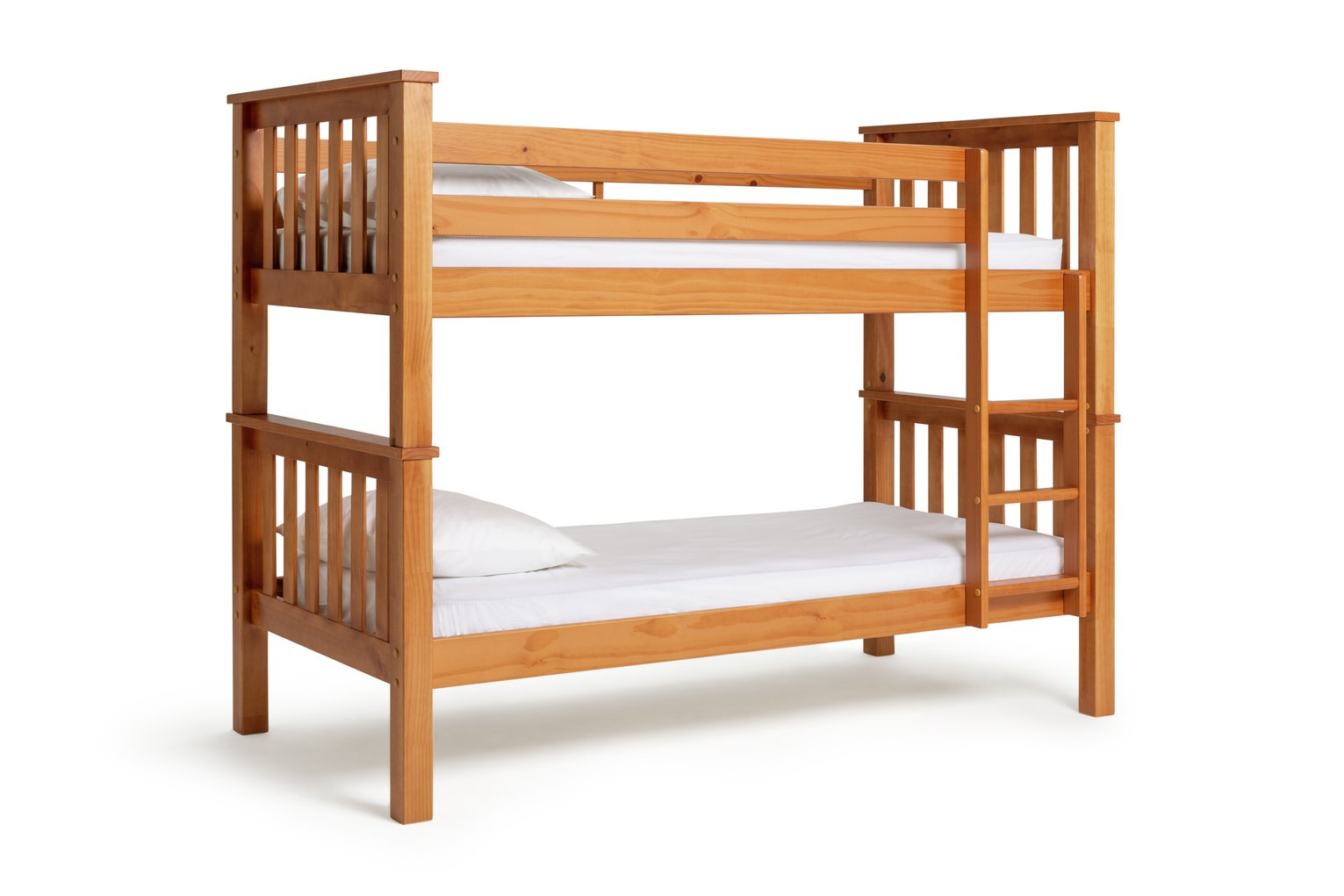 Argos Home Heavy Duty Pine Bunk Bed & 2 Kids Mattresses