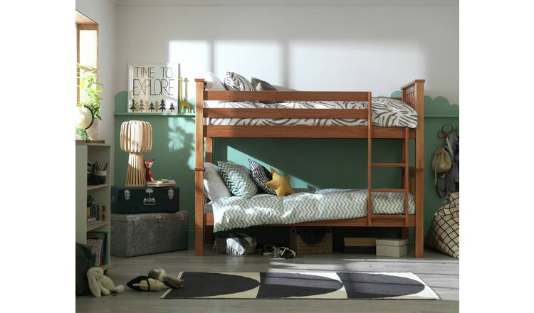 Argos Home Heavy Duty Bunk Bed and 2 Kids Mattresses - Pine