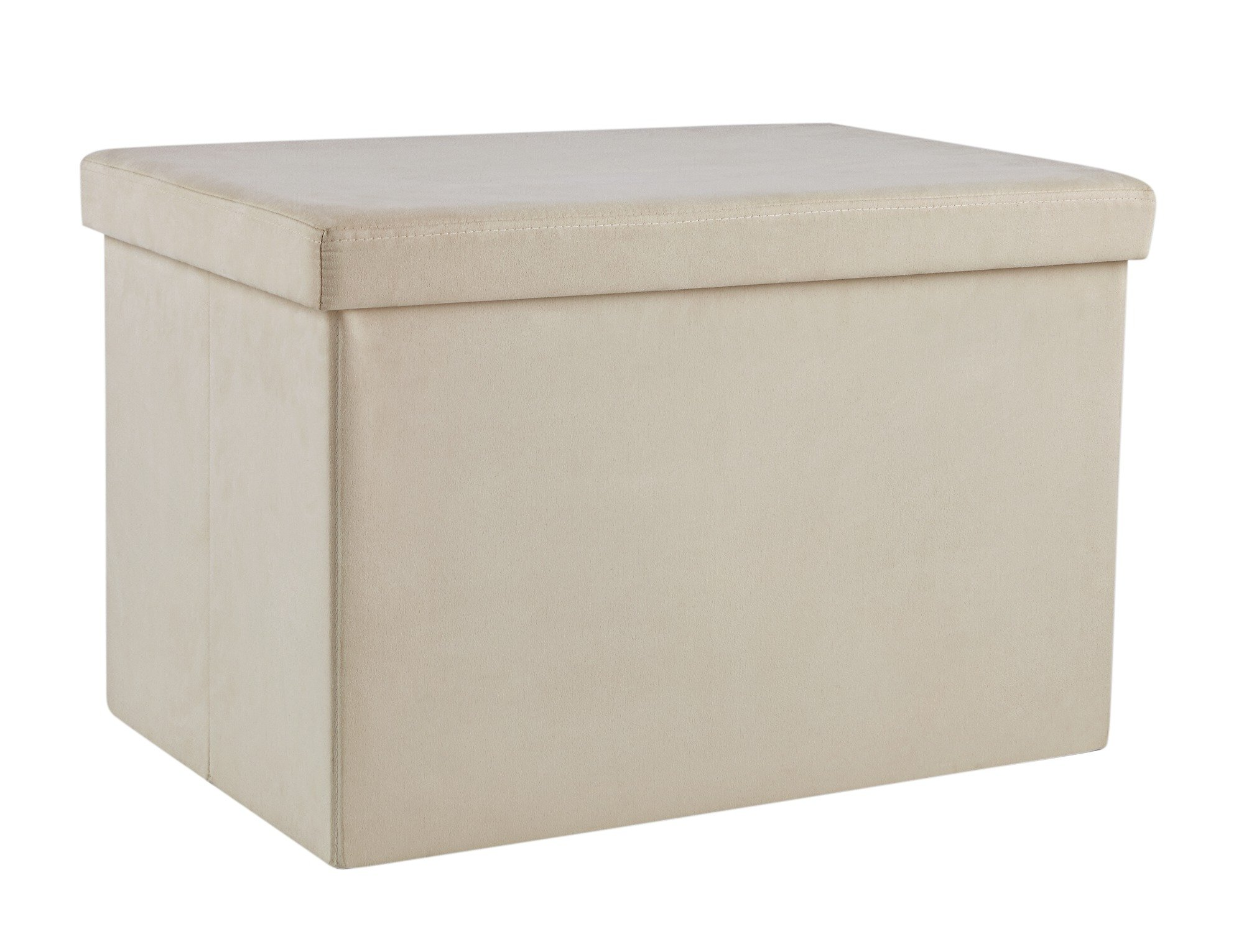 Buy HOME Large Fabric Ottoman Cream at Argoscouk Your Online