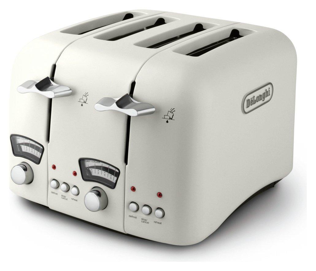 Buy De Longhi Argento 4 Slice Toaster Cream at Argos