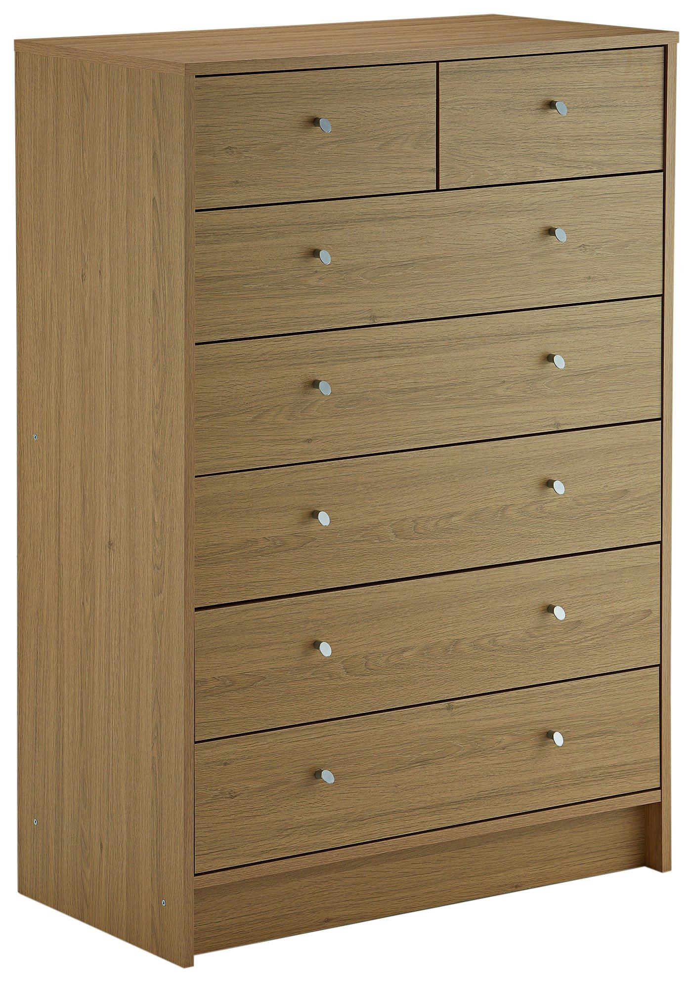 Superb HOME Kids New Malibu 5 + 2 Chest Of Drawers   Oak Effect