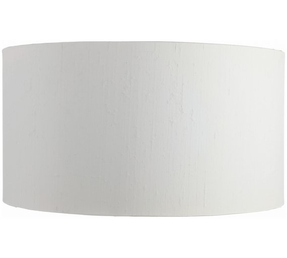 Buy habitat silk drum lampshade white at argos your click to zoom mozeypictures Image collections