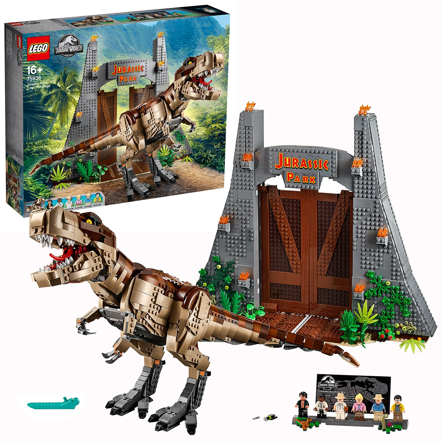 Image of LEGO Jurassic Park: T. rex Rampage - 75936