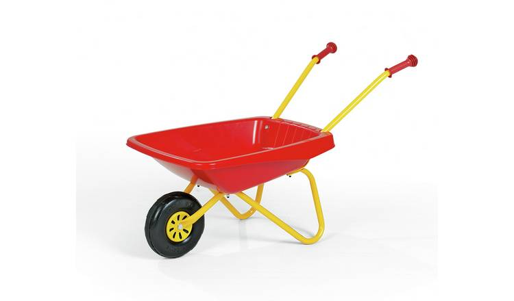 Kids Metal and Plastic Wheelbarrow - Red & Yellow
