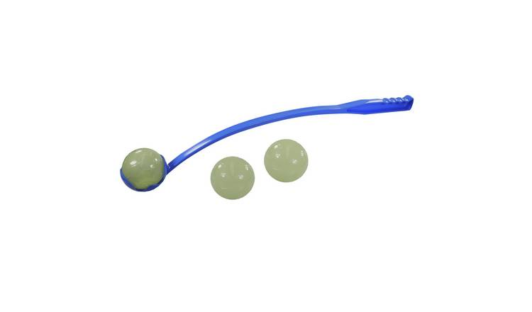 Rosewood Ball Launcher & Glow in the Dark Balls Dog Toy