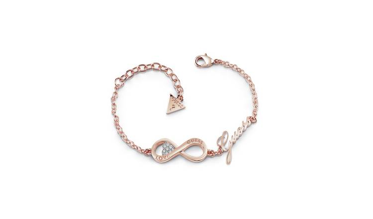 Guess 9ct Rose Gold Plated Endless Love Infinity Bracelet