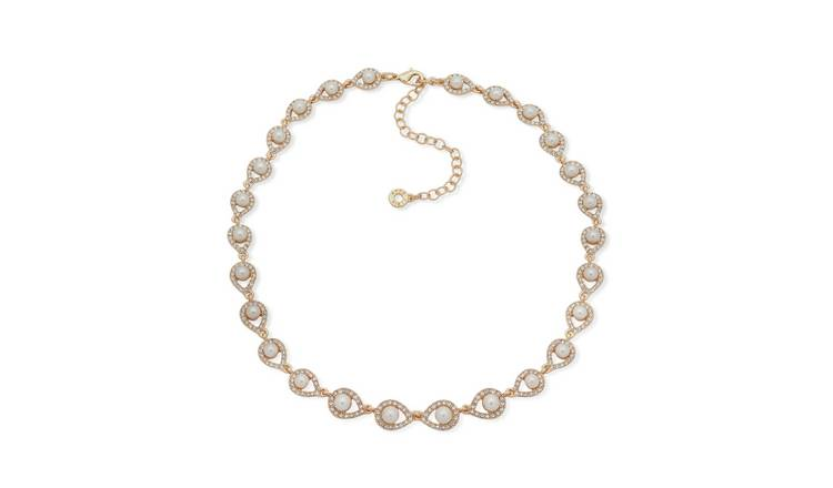 Anne Klein Gold Colour Pearl Pendant Necklace